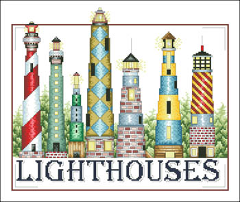 Lighthouses Cross Stitch Pattern by Vickery Collection