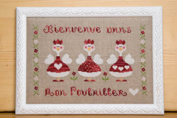 Dans Mon PoullaiIler - In My Henhouse Cross Stitch Pattern by Tralala