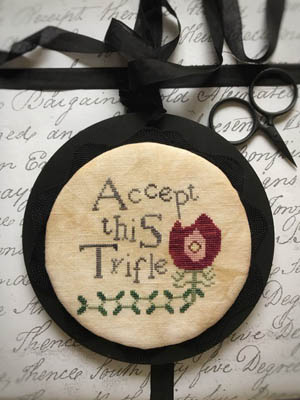 Accept This Trifle Cross Stitch Pattern by Lucy Beam