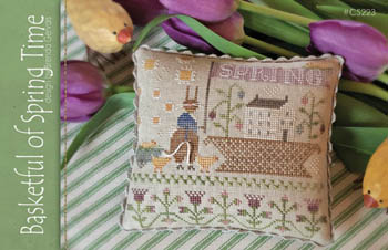 Basketful Of Spring Time Cross Stitch Pattern by With Thy Needle & Thread