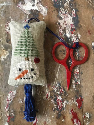 Snowman Scissor Fob Cross Stitch Pattern by Lucy Beam