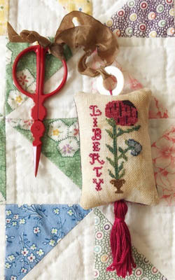 Liberty Scissor Fob Cross Stitch Pattern by Lucy Beam