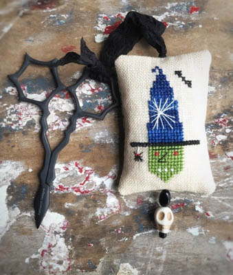 Witch Scissor Fob Cross Stitch Pattern by Lucy Beam