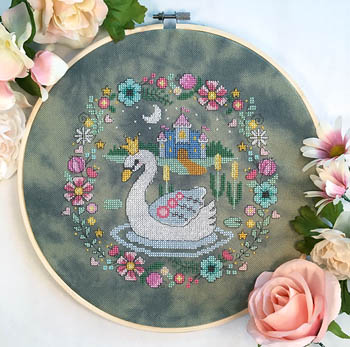 Swan Princess Cross Stitch Pattern by Tiny Modernist