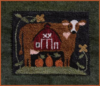 Down On The Farm Punchneedle by Little House Needleworks