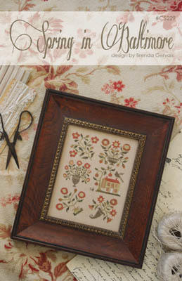 Spring in Baltimore Cross Stitch Pattern by With Thy Needle and Thread