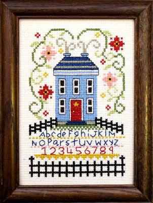 House On The Hill Cross Stitch Pattern by Bobbie G Designs