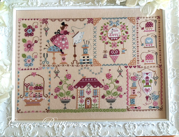 Stitching in Quilt Cross Stitch Pattern by Cuore E Batticuore