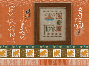Thank Celebrate With Charm Cross Stitch Pattern by Lizzie Kate