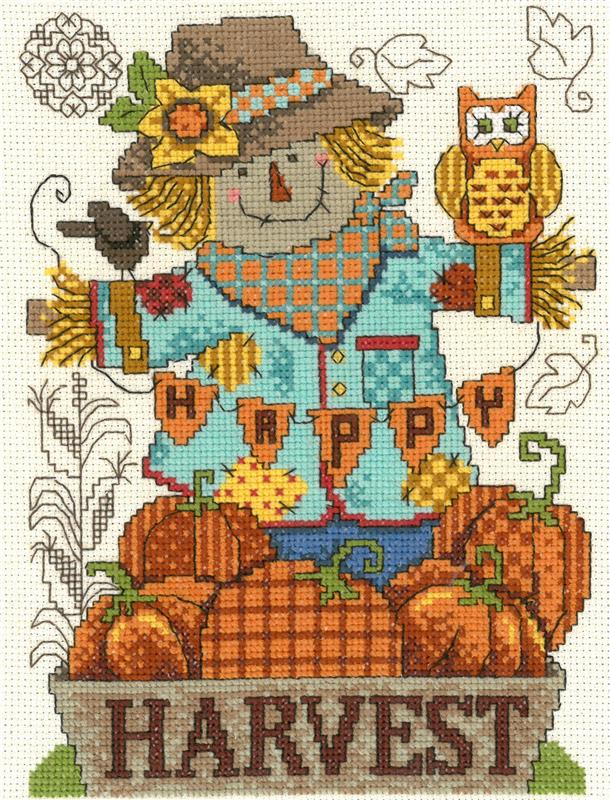 Happy Harvest Scarecrow Cross Stitch Pattern Imaginating | Anabella\'s