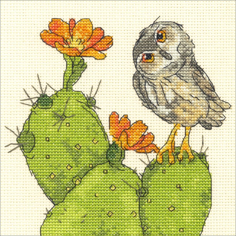 "Dimensions Counted Cross Stitch Kit 6""X6"" Prickly Owl"
