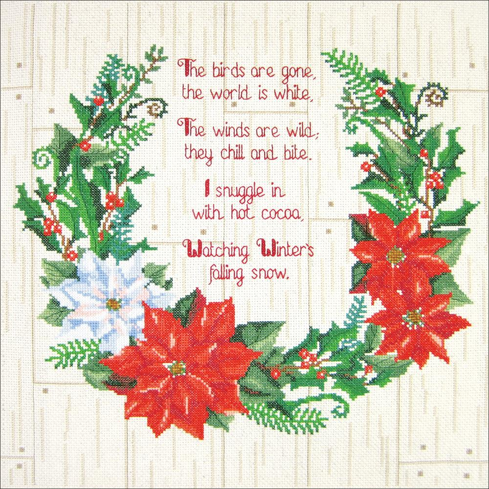 "Janlynn Counted Cross Stitch Kit 14""X14"" Winter Sentiments"