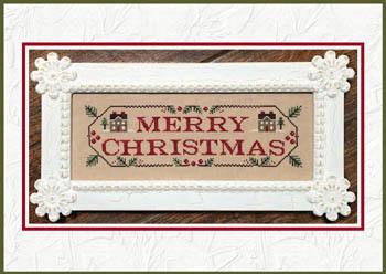 Merry Christmas Cross Stitch Pattern