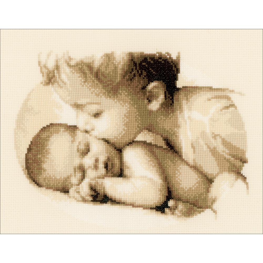 "Vervaco Counted Cross Stitch Kit 10.75""X8.5"" Brotherly Love"