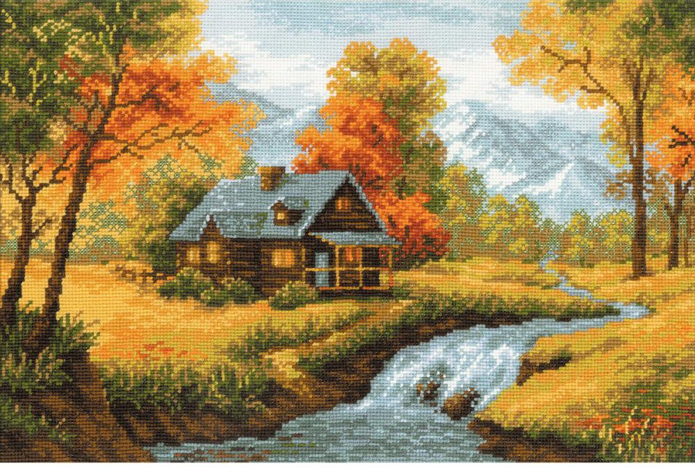 Autumn View Cross Stitch Kit by Riolis