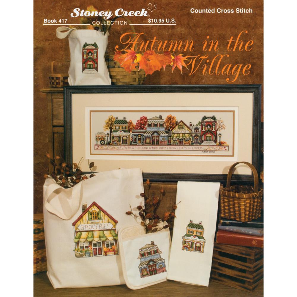 Autumn in the VIllage Cross Stitch Pattern
