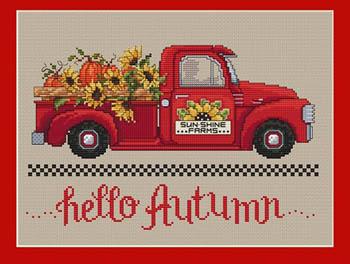 Hello Autumn Cross Stitch Pattern