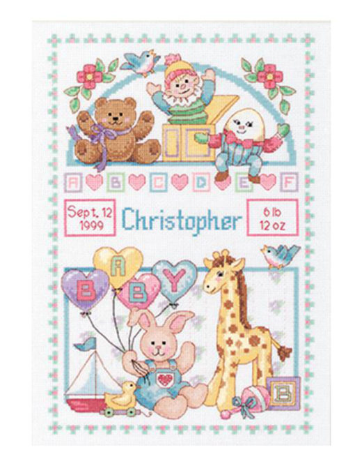 Dimensions Birth Record for Baby Cross Stitch Kit
