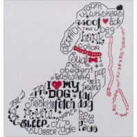 Let's Bark Cross Stitch Kit by Imaginating