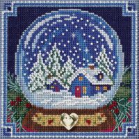 Snow Globe Mill Hill Counted Cross Stitch Kit