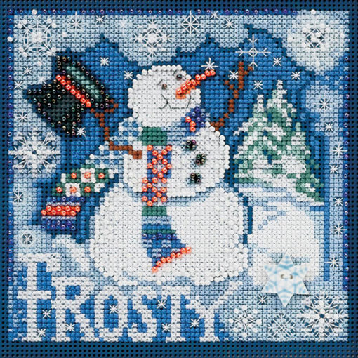 Frosty Snowman Winter Mill Hill Counted Cross Stitch Kit