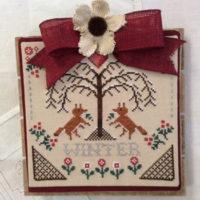 Sheltering Tree – Winter Cross Stitch Pattern by Annie Beez Folk Art