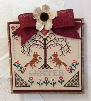 Sheltering Tree - Winter Cross Stitch Pattern by Annie Beez Folk Art