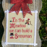 Build A Snowman Cross Stitch Pattern by Pickle Barrel Designs