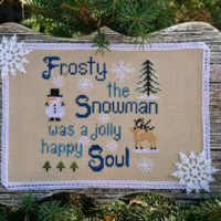 Frosty Cross Stitch Pattern by Pickle Barrel Designs