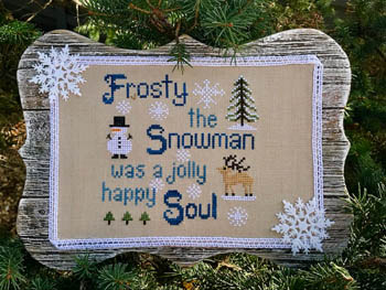 Frosty Cross Stitch Pattern by Pickle Barrel Designs