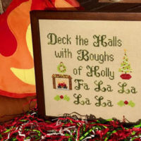 Deck the Halls Cross Stitch Pattern by Pickle Barrel Designs