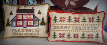 Farmhouse Christmas Cross Stitch Pattern by Abby Rose Designs