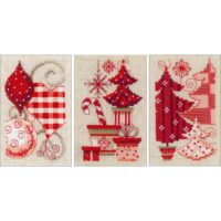 Vervaco Christmas Motifs Greeting Cards Counted Cross Stitch