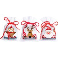 Vervaco Christmas Buddies Sachet Bags Counted Cross Stitch Kit
