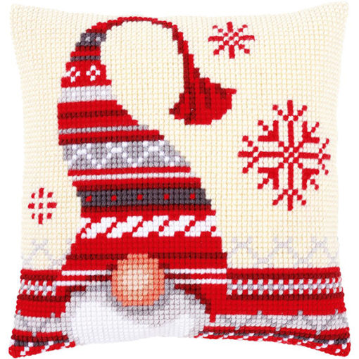 Vervaco Christmas Gnomes Needlepoint Cushion Top Kit