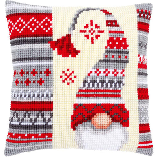 Vervaco Christmas Gnomes II Needlepoint Cushion Top Kit