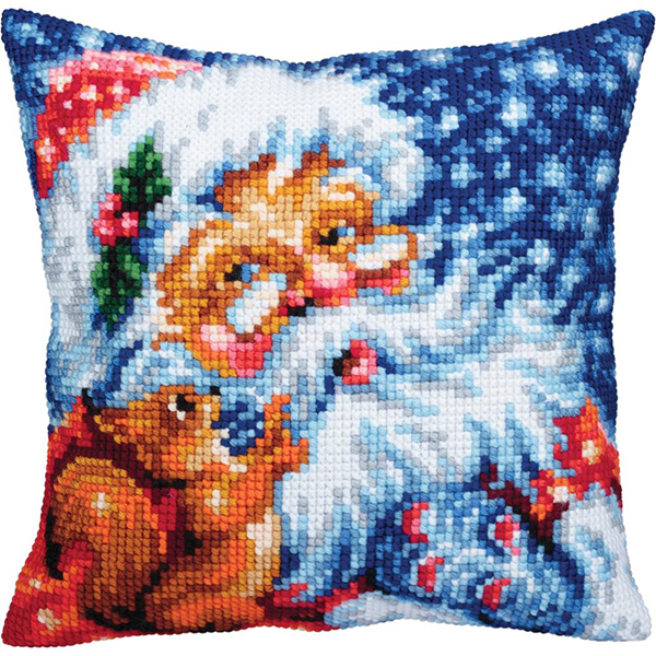 Collection D'Art Santa Stamped Needlepoint Cushion Kit