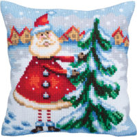 Collection D'Art Santa From Lapland Stamped Needlepoint Cushion Kit
