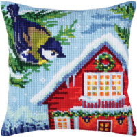 Collection D'Art Before Christmas Stamped Needlepoint Cushion Kit