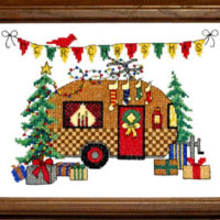 Christmas Camper Cross Stitch Pattern by Bobbie G Designs