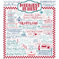 Let's Visit The Midwest Cross Stitch Kit by Imaginating