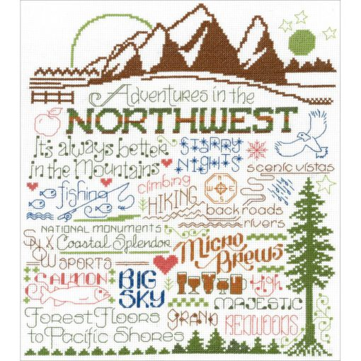 Let's Visit The Northwest Cross Stitch Kit by Imaginating