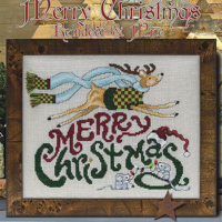 Merry Christmas Reindeer & Mice Cross Stitch Pattern by Stoney Creek Collection