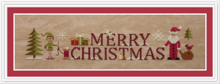 Simply Merry Christmas Cross Stitch Pattern by Jardin Prive'