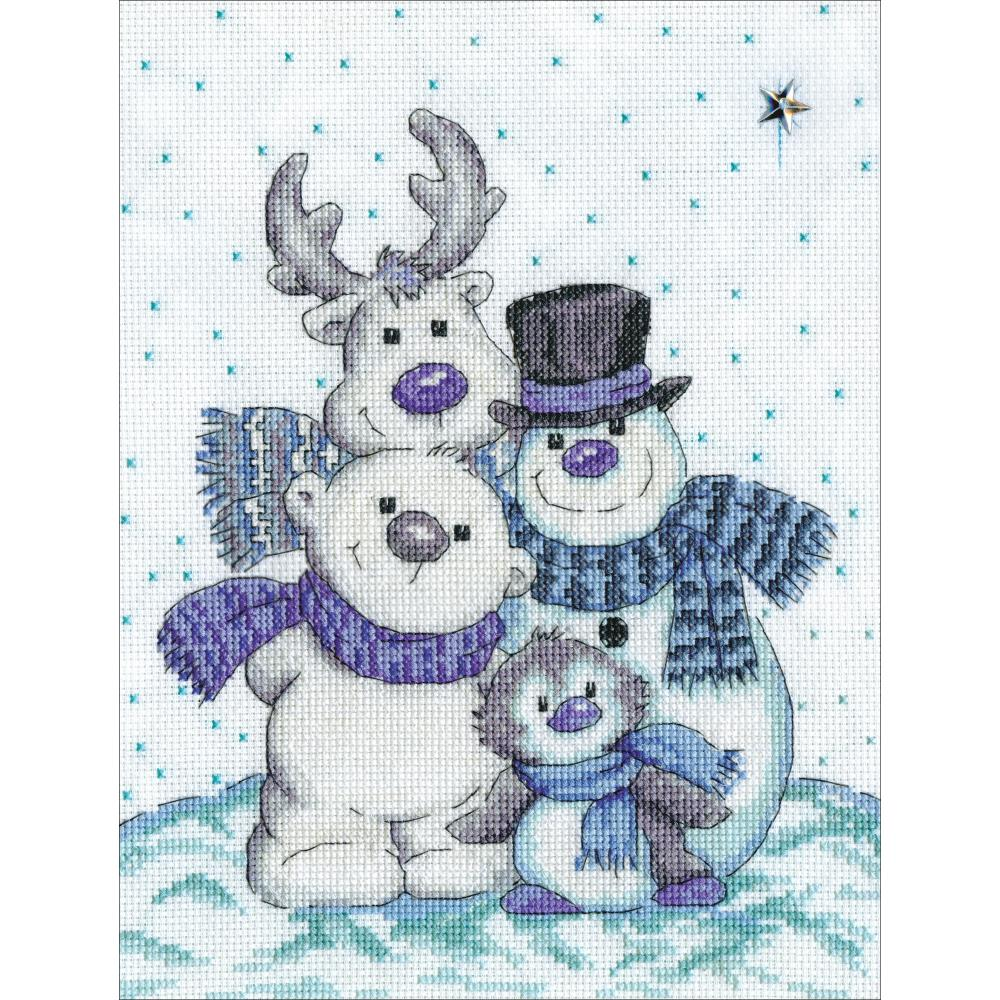 Snow Pals Cross Stitch Kit