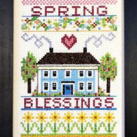 Spring Blessings Cross Stitch Pattern by Bobbie G Designs