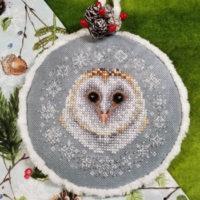 Winter Snow Owl Cross Stitch Pattern by Blackberry Lane Designs