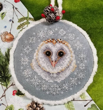 Winter Snow Owl Cross Stitch Pattern by Blackberry Lane Designs