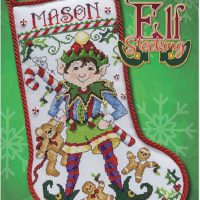 Elf Stocking Cross Stitch Pattern by Stoney Creek Collection