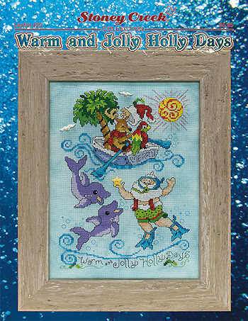 Warm and Jolly Holly Days Cross Stitch Pattern by Stoney Creek Collection